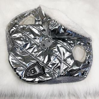 Серебрянная курточка для собачки
