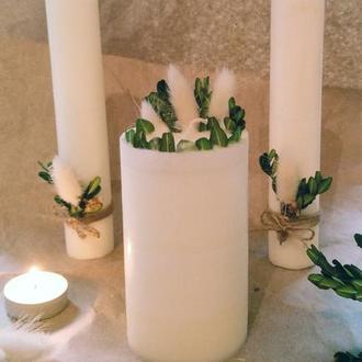 Свадебные свечи, свечи