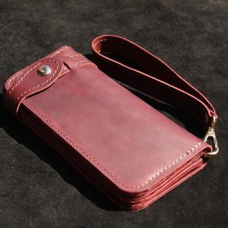 Женский кожаный кошелек ManTools x4 ручной работы