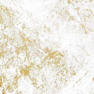 Виниловый фотофон белые с золотым мрамор 100*100