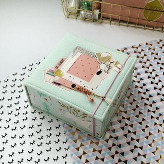Мамины сокровища, матусина скарбничка, мемори бокс, memory box для девочки