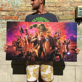 Картина (печать) на холсте + подрамник (галерейная натяжка) Мстители / Avengers