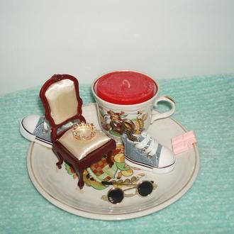 аромосвеча фарфор сувенир подарок чашка тарелка