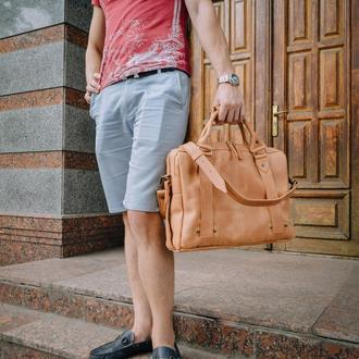 Мужская кожаная сумка, Портфель для ноутбука