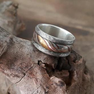 Серебряное кольцо (мокуме гане)