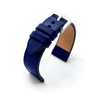 Ремешок для часов синий кожаный без строчки итальянская кожа изготовление на заказ