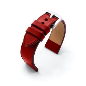 Ремешок для часов красный кожаный без строчки итальянская кожа изготовление на заказ