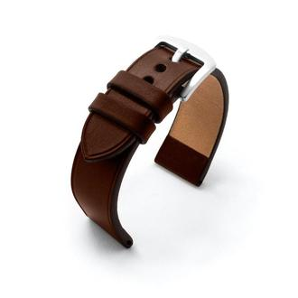 Ремешок для часов темно-коричневый кожаный без строчки итальянская кожа изготовление на заказ