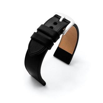 Ремешок для часов черный кожаный без строчки итальянская кожа изготовление на заказ