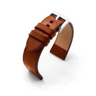 Ремешок для часов коричневый кожаный без строчки итальянская кожа изготовление на заказ