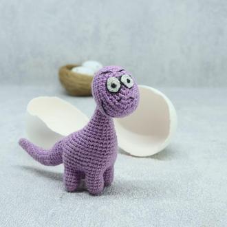 Вязаный миниатюрный динозавр