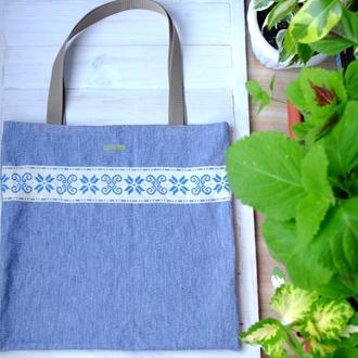 Сумка для покупок джинсовая, эко сумка, торба, сумка, сумка шоппер 16//джинсова еко торба