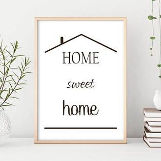 Графический постер Home Sweet Home
