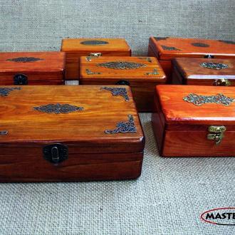 Новые деревянные шкатулки из сосны