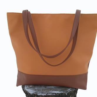 Большая повседневная женская сумка Тоут с 6-ю карманами