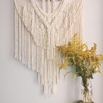 Большое макраме панно, декор на стену