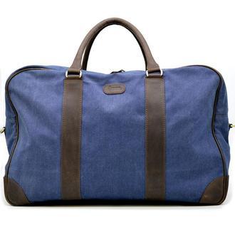 Дорожная сумка из ткани канвас с элементами натуральной кожи RK-6827-4lx бренда TARWA