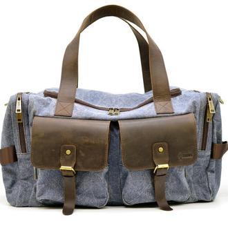 Дорожная сумка из парусины и лошадиной кожи RKj-5915-4lx бренда TARWA