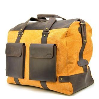 Дорожная красивая сумка микс ткани канвас и кожи RY-4353-4lx TARWA