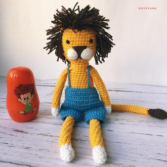 Сонячний жовтий лев.  еко-іграшка