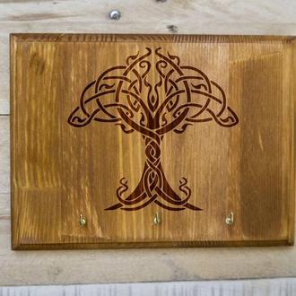 """Настенная ключница """"Дерево жизни"""" 04 из дерева"""