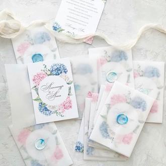 Свадебный конверт из кальки С6 прозрачный