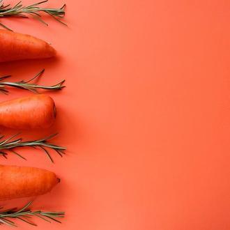 Оранжевый двусторонний, матовый фотофон для съемки фото 50х40