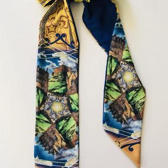 """Твилли, шарфик-галстук , """"Шотландские узоры"""""""