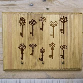 "Настенная ключница ""Ключи"" 03 из дерева"