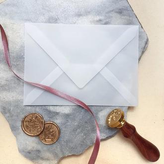 Прозрачный конверт из кальки 10х15