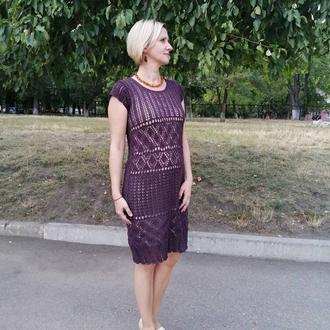 Ажурне плаття з бавовни