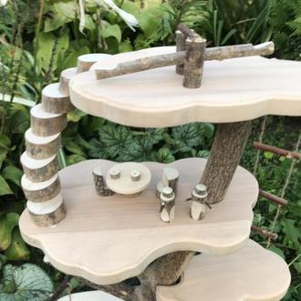 Деревянный домик дерево для игри детей Дерев'яний будиночок дерево для гри дітей