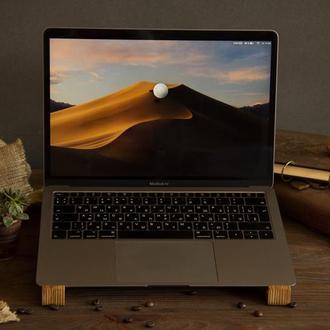 Органайзер Для Ноутбука Подставка Под Ноутбук Охлаждающая Аксессуар Для Дома Офиса Из Дерева Отцу
