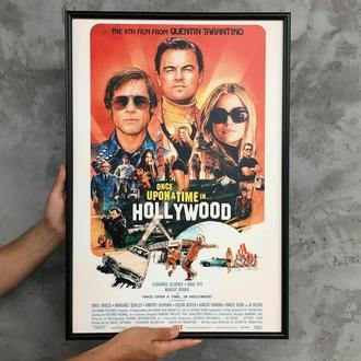 """Постер на ПВХ 3 мм. в рамке """"Однажды в Голливуде"""" (Once Upon a Time in Hollywood)"""