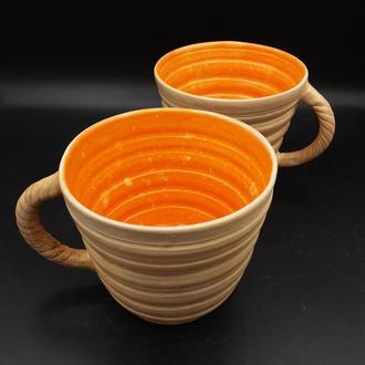 Чайная керамическая чашка. 2 шт.
