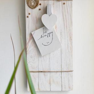 Рамка для фото с прищепкой-сердечком