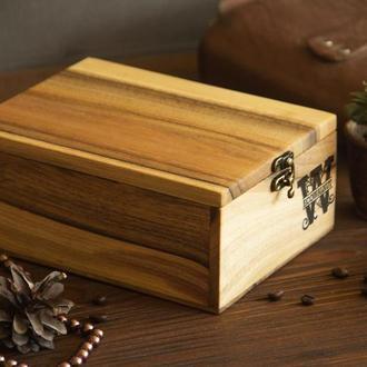 Деревянная Подарочная Коробочка Органайзер Для Женщин Персонализированный Аксессуар Для Украшений