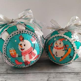 """Набор новогодних игрушек """"Веселые Снеговики"""""""