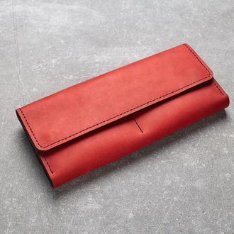 Женский кошелек из натуральной кожи. (WW001 red) (под заказ)