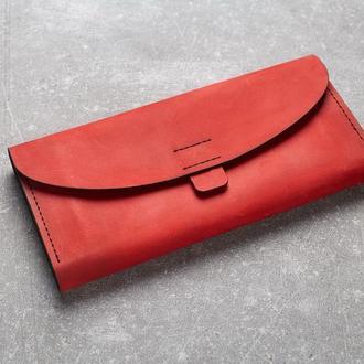 Женский кошелек из натуральной кожи. (WW003 red) (под заказ)