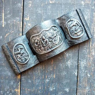 Разъёмный браслет на магнитах из полимерной глины.