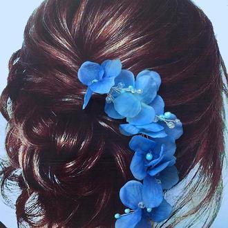 веточка с гортензии украшение для волос