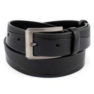 Ремень мужской кожаный KB-35-11 black (3,5 см)