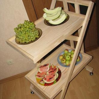 Стол сервировочный, столик на колёсиках, тележка