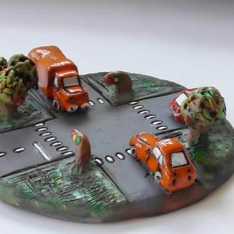 Керамические автомобили набор №1 На перекрестке
