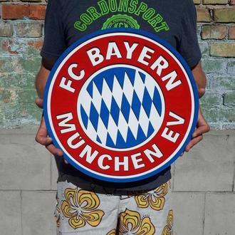 Деревянный логотип постер эмблема футбольного клуба Бавария Мюнхен