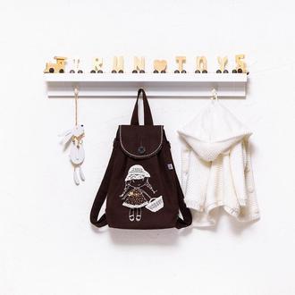 Детский рюкзак с вышивкой ручной работы IrunToys