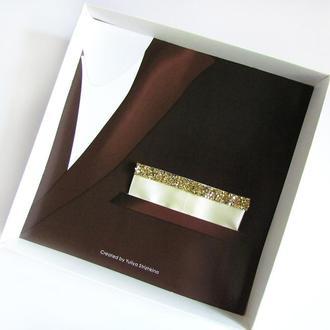 Паше (нагрудный платок в карман пиджака) айвори нарядный