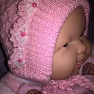 детская шапочка на флисе