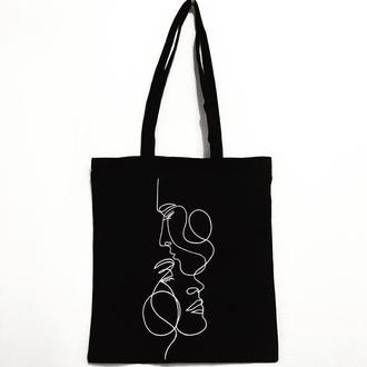 Эко-сумка шоппер «Влюблённые»